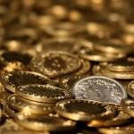 Beautiful Golden Coin Desktop Wallpaper